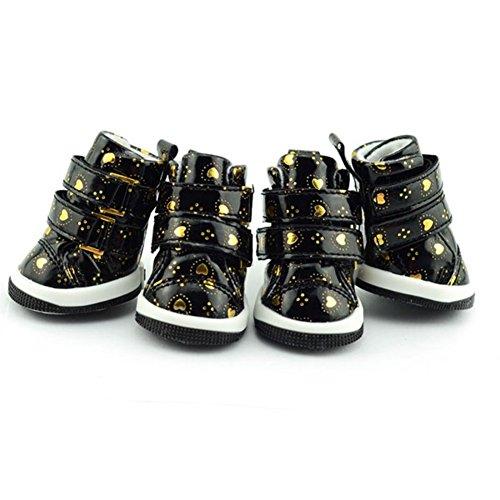 Urparcel Pet Puppy Dog Anti-slip Waterproof Shoes Sneakers Breathable Hole Boots Black Medium