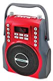 KORAMZI Karaoke Portable Rechargeable Boombox with Bluetooth,USB,SD, FM Radio, AUX In , 3.5 mm Audio Jack, Bluetooth Call Answering, Electric Guitar audio input, MIC jack KS-200RD (Red)