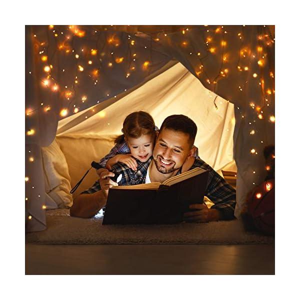 Guirlande Lumineuse 12M 120LED, OMERIL Fairy Lights IP65 Etanche Décoration Romantique pour Sapin de Noël Mariage Fête…