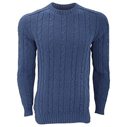 FLOSO - Jersey de punto rico en algodón unisex (fabricado en Reino Unido) Vaquero