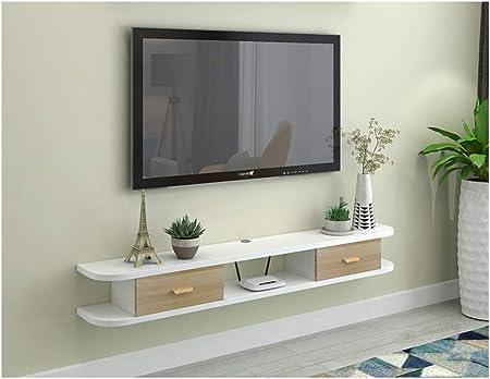 Pequeño gabinete de TV de Pared Flotante Estante Flotante de repisa Mueble de TV Colgante Estante de Almacenamiento de Consola Gabinete de Juego de Juguete fotográfico Diseño de cableado Perforado: Amazon.es: Hogar