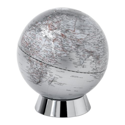 Globe Collection, Globus-Sparbüchse, 20 cm, Silber