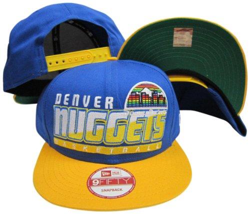 Denver Nuggets Light Blue/Yellow Two Tone Snapback Adjustable Plastic Snap Back Hat/Cap