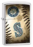 Zippo MLB Seattle Mariners Brushed Chrome Lighter
