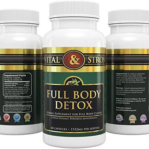# 1 Vital & Strong ™ Maître Detox PRO Full Body 360 Cleanse Herbal Supplément formule est un Flush Système doux destinés à détoxifier plus de 30 jours - 1532mg par portion -13 puissant ingrédients naturels dont le Acai Berry, Aloe Vera et autres Nettoyant