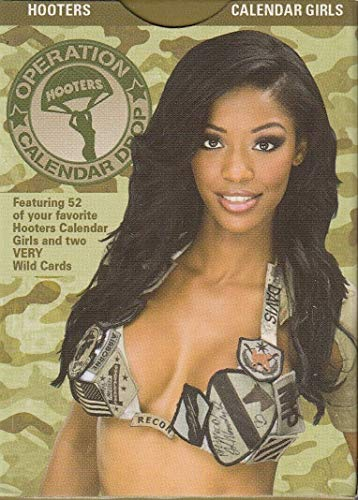 HOOTERS OPERATION CALENDAR DROP 2011 PLAYING CARD DECK OF 52 + 2 AD SET