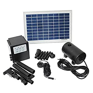 Amazon Com 10 Watt Solar Powered Outdoor Garden Water