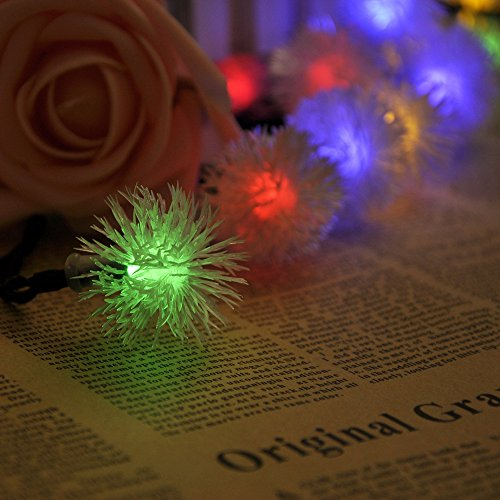 Lychee Two Tilted Solar panelsChuzzle Solar Fairy String Lights for Room Home Garden Christmas Party Decoration (Multicolor, 4.8m 20Leds) Black Friday Sale