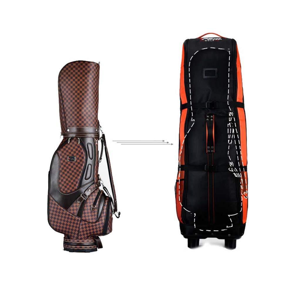 PGM HKB006 - Bolsa de golf plegable con ruedas y fila, bolsa ...