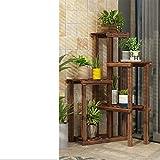 Solid wood floor racks Living flower Balcony European style Corner Multi-layer corner showy Floor simple flower-E