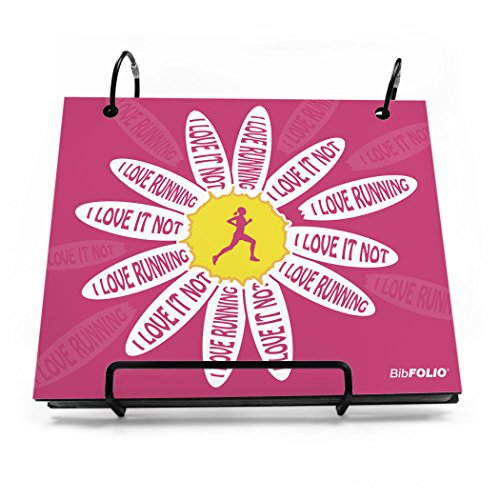 Gone For a Run I Love Running, I Love It Not BibFOLIO | Runner's Race Bib Holder and Album| Pink