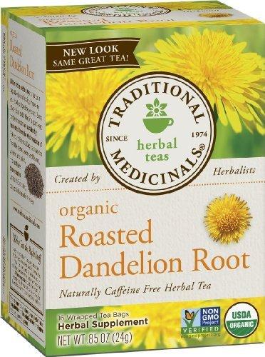 ls Herbal Teas, Organic Roasted Dandelion Root, 16 Tea Bags (Pack of 3) ()