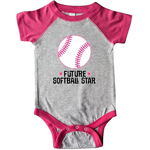 Softball Onesie (inktastic - Future Softball Infant Creeper 12 Months Heather and Hot Pink 2ebf0)