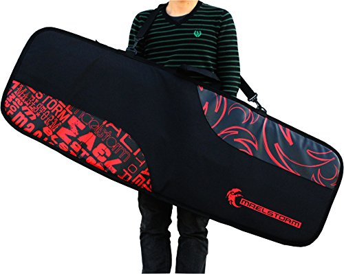 Maelstorm 145cm Kitesurfing Kiteboard Gear Travel Bag Transport Airline Friendly Full Protection All-round Reinforced Edges Padded Top and Bottom Large Gauge YKK Zippers Hold 2-3 Kiteboards and Kiteboarding Accessories