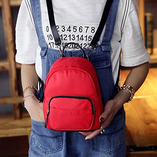 Espeedy Forme a mujeres del verano mochila Casual Nylon señoras muchachas mini bolso para los bolsos de la escuela Compras del recorrido que fecha los regalos rojo