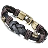 Jstyle Jewelry Braided Leather Bracelets for Men Rope Bracelet Bangle
