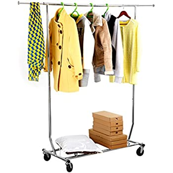 Amazon Com Langria Heavy Duty Garment Rack Commercial
