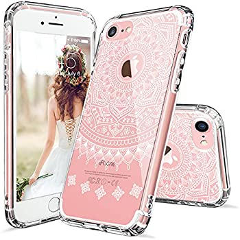 sneakers for cheap 32852 7b8df iPhone 7 Case, iPhone 7 Case Cover, MOSNOVO Girly Henna Clear Hard Case  Design with TPU Bumper Protective Shockproof Back Cover for iPhone 7 (2016)