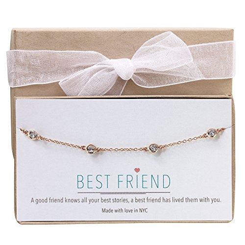 AMY O Diamond by The Yard Bracelet in Sterling Silver, 14K Gold, 14K Rose Gold, Friendship Bracelet