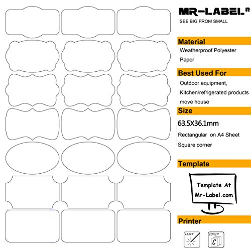 Mr Label Waterproof Removable Adhesive Labels