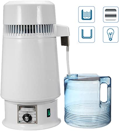 YLOVOW Destilador de Agua de litro, purificador de destilador de ...
