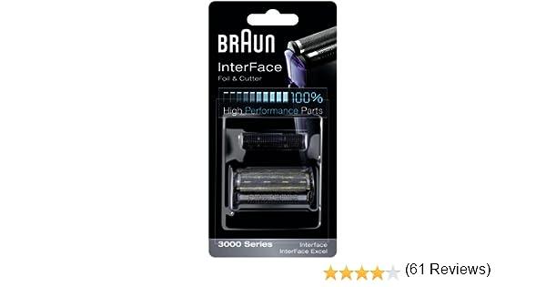 Braun - Combi-pack 3000 - Láminas de recambio + portacuchillas para afeitadoras Interface: Amazon.es: Salud y cuidado personal