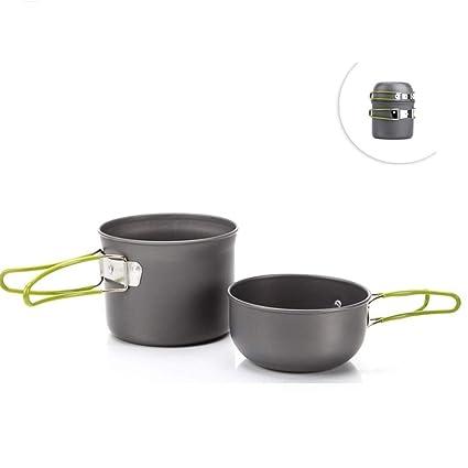 Amazon.com: AOTU Upgrade Aluminum Material Camping Cookware ...