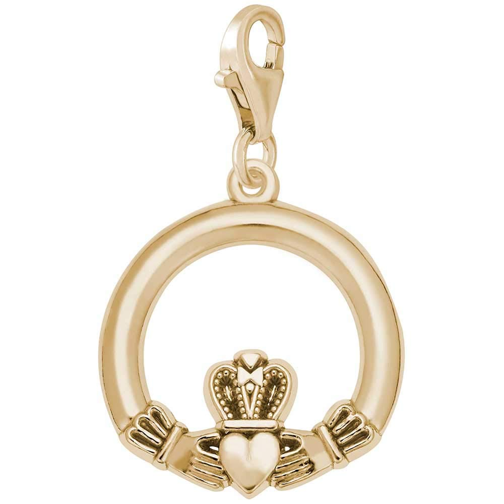 Rembrandt Charms Claddagh Charm with Lobster Clasp