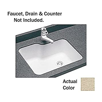 Bisque 25-in L X 21.25-in H X 8.75-in H Swanstone US02215SB.018 Solid Surface Undermount Single-Bowl Kitchen Sink