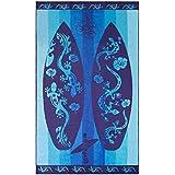 Set TOALLA PLAYA GRANDE tablas surf azul 100% ALGODÓN EGIPCIO MOD: (405 A