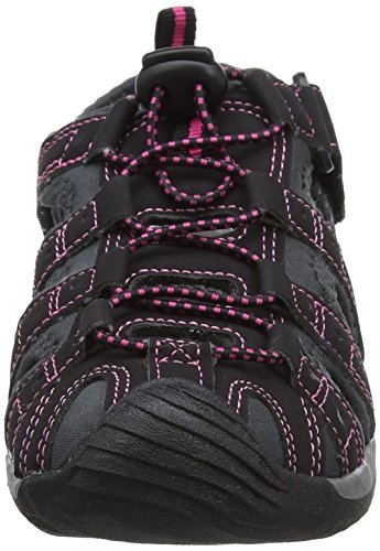 Shingle Sandali Gola Atletica Nero 3 Hot Black da Donna Pink A4Pndnx