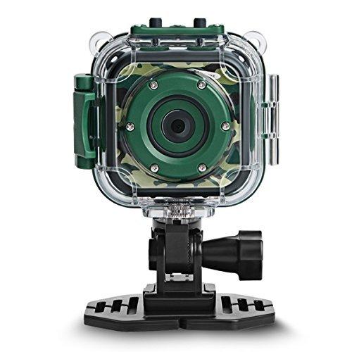 DROGRACE Children Kids Camera Waterproof Digital Video HD Action Camera 1080P...