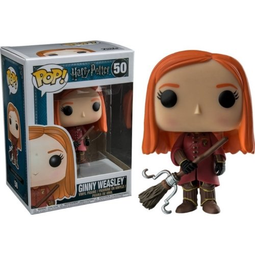 Funko Ginny Quidditch Robes Figurina de Vinillo, Coleccion Harry Potter POP Movies, 9 cm (FFK149
