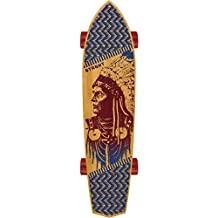 """STRGHT SKATES with WOLVES Bamboo Diamond Tail 28.5"""" x 7.0"""" Skateboard -COMPLETE-"""