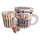Gourmet du Village Chocolate Birthday Cake in A Mug (Gift Set), 7 oz