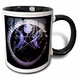 3dRose WhiteOaks Photography and Artwork - Halloween - Samhain Design is my yearly creation designed for a pagan holiday - 11oz Two-Tone Black Mug (mug_245653_4)