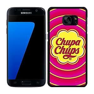 FUNDA CARCASA PARA SAMSUNG Galaxy S7 Edge CARAMELO 2 BORDE NEGRO