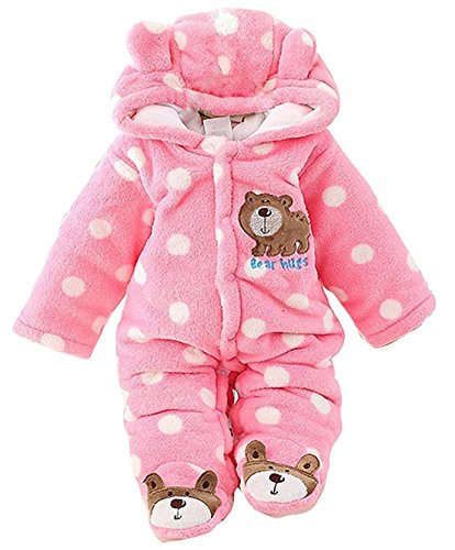 (C&M Baby Jumpsuit Outfit Hoody Coat Winter Infant Rompers Toddler Clothing Bodysuit)