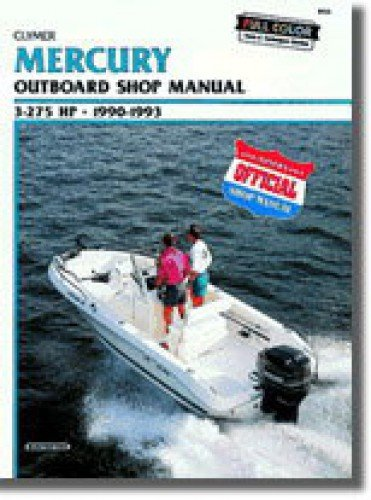 B722 1990, 1991, 1992, 1993 Mercury 3-275hp Outboard Boat Engine Printed Repair Manual