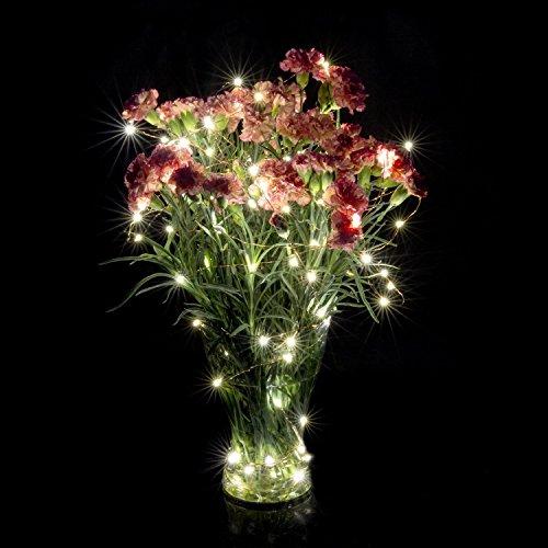 BMOUO Solar String Lights, 100 LEDs Outdoor/Indoor Starry String Lights,Waterproof Solar Fairy ...