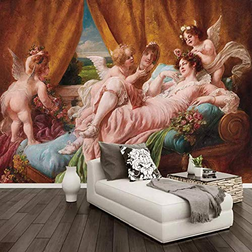 Wallpaper Custom Size Mural Wallpaper Venus Angel Oil Painting Classic Mural Living Room Dining Room Bedroom Home Decor 3D Wall Painting,400Cm×280Cm
