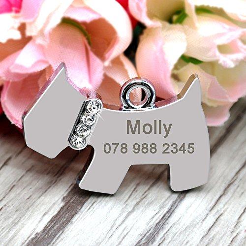 didog cute dog shaped rhinestone custom dog id tags for small medium