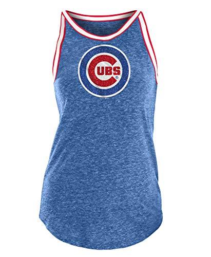 New Era Chicago Cubs Women's Bleacher Tri-Blend Tank Top X-Large
