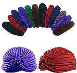 Dozen Pack- 12 Perfect Fit Dark Colored Beautiful Turbans
