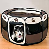 Enjoying Pet Puppy Dog Playpen Exercise Pen Kennel Foldable Portable Dog/Cat/Puppy Exercise Kennel