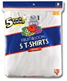 Fruit of the Loom Big Boys' Crew Neck Tee, White, Small(Pack of 5)
