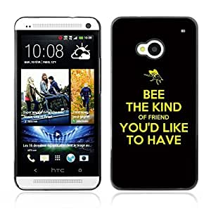YOYO Slim PC / Aluminium Case Cover Armor Shell Portection //BEE THE KIND //HTC One M7