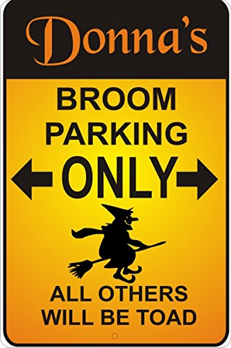 (Witch Broom Parking Personalized Customized Decorative aluminum sign)