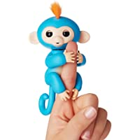 Fingerlings ouistiti bleu bébé singe interactif de 12cm