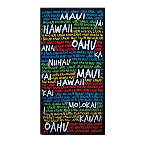 KC Hawaii Island Colors Beach Towel 30'' X 60'' by KC Hawaii